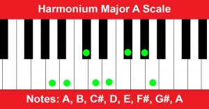 Harmonium Major A Scale