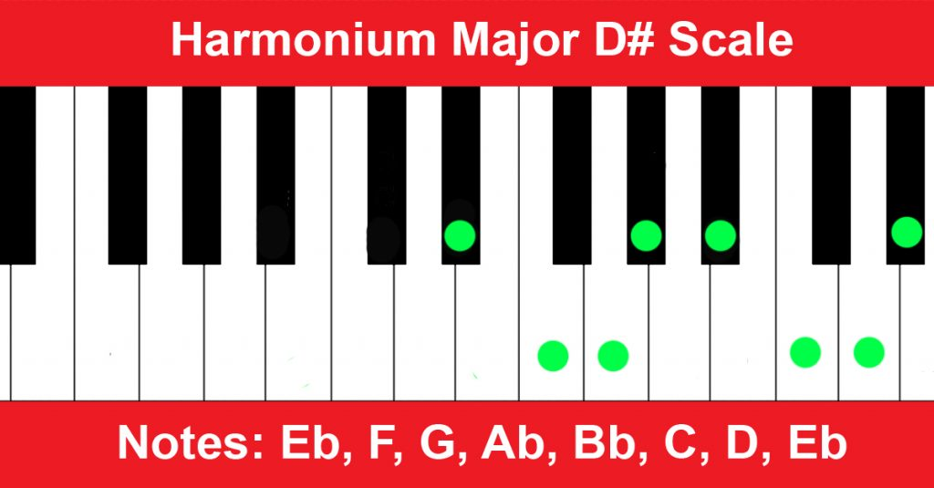 Harmonium Major D# Scale