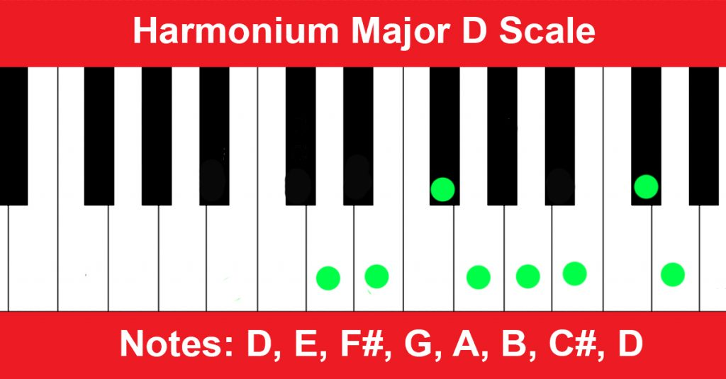 Harmonium Major D Scale