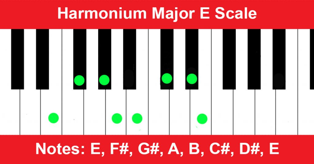 Harmonium Major E Scale