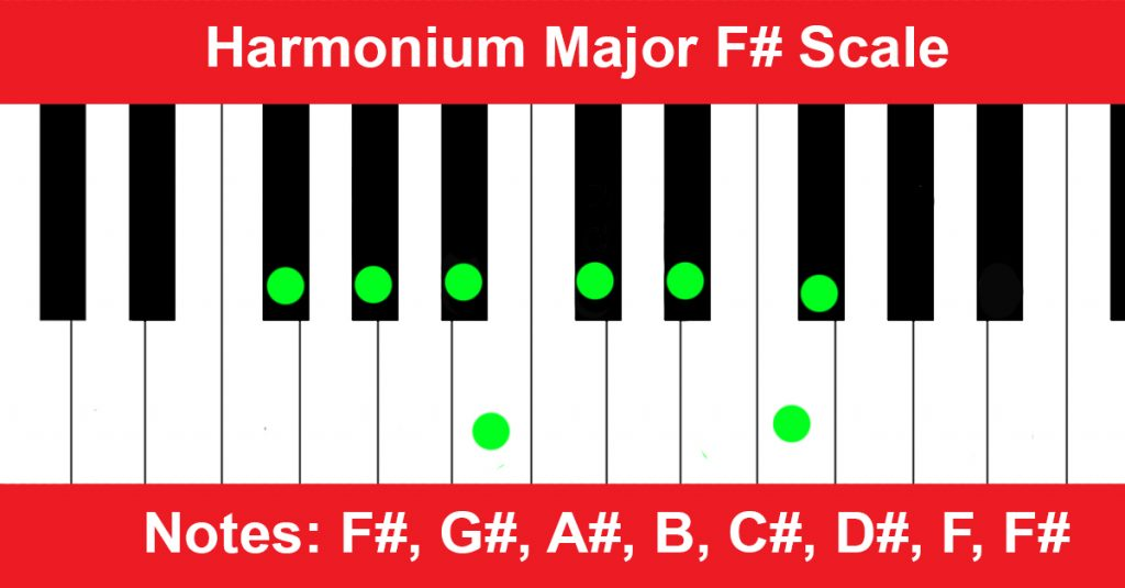 Harmonium Major F# Scale