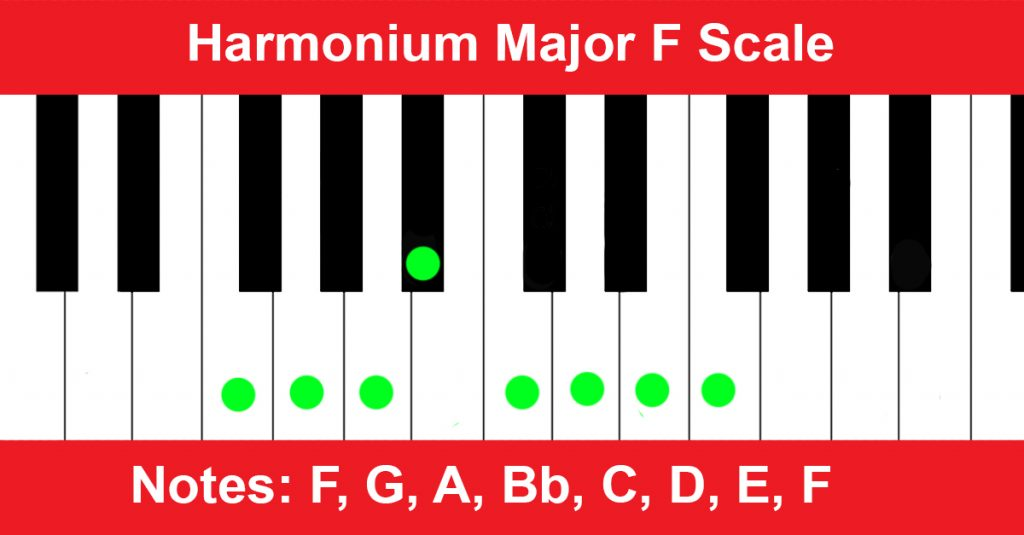 Harmonium Major F Scale