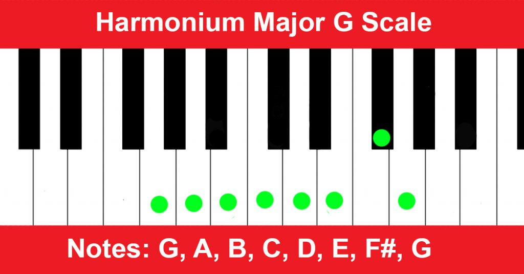 Harmonium Major G Scale