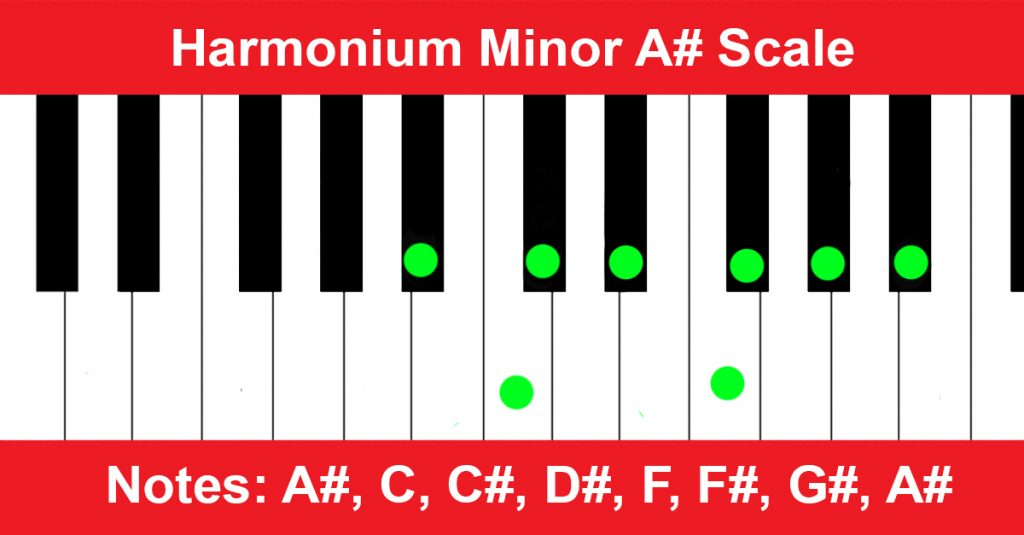 Harmonium Minor A# Scale