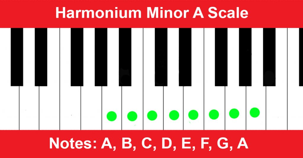 Harmonium Minor A Scale