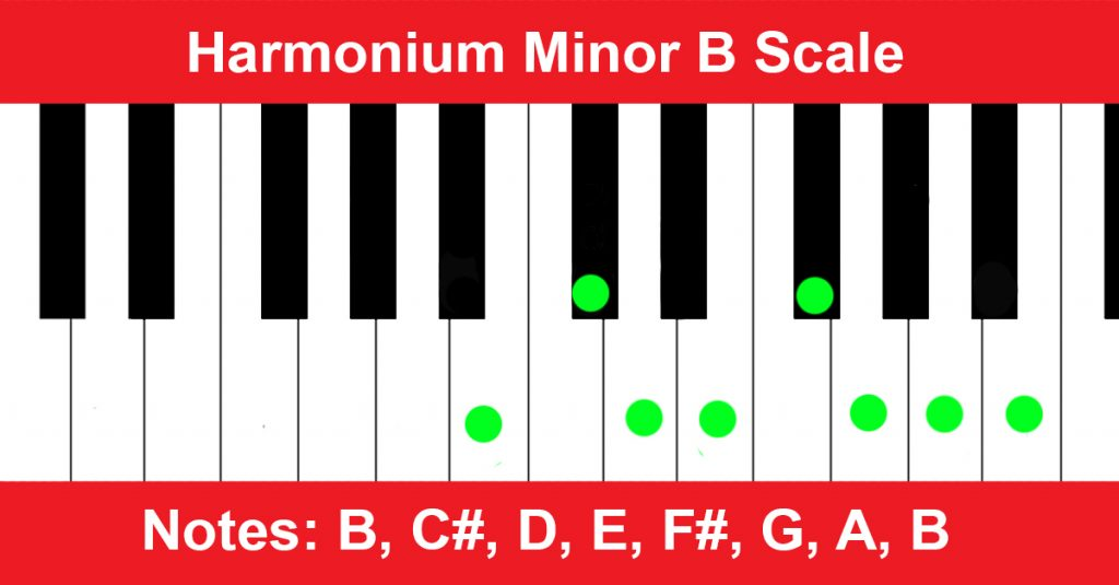 Harmonium Minor B Scale