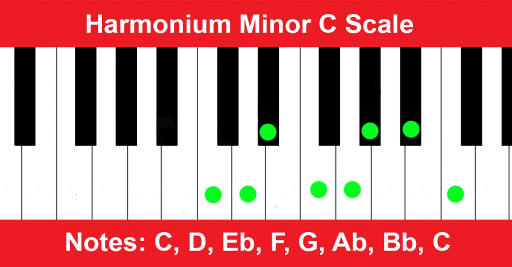Harmonium Minor C Scale