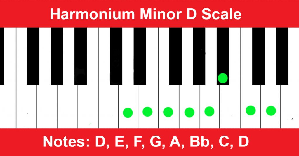 Harmonium Minor D Scale