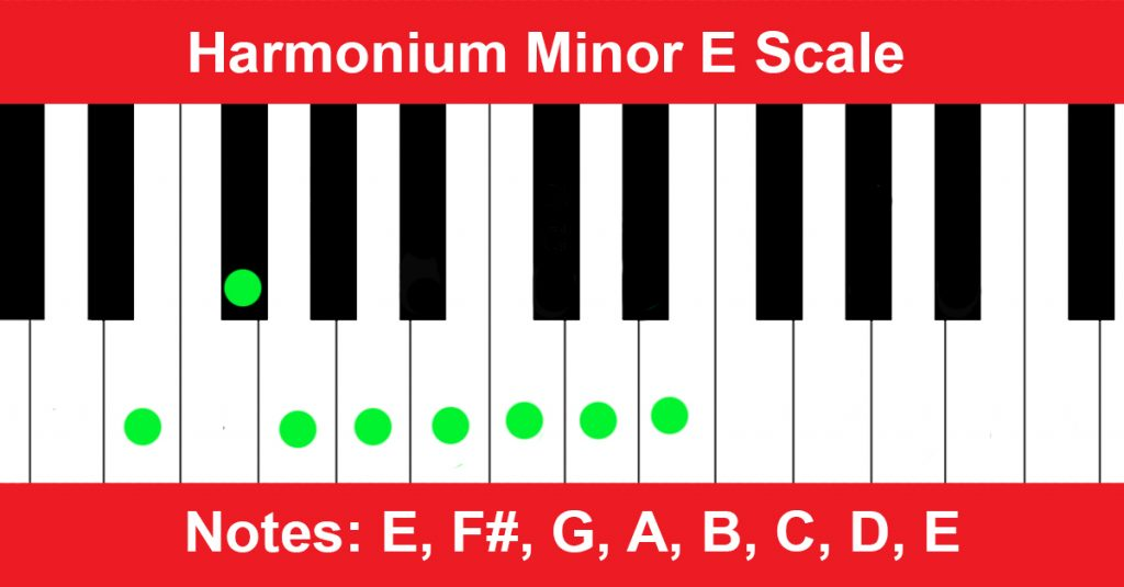 Harmonium Minor E Scale
