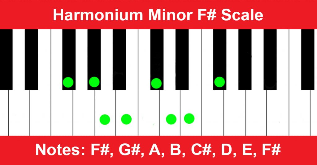 Harmonium Minor F# Scale