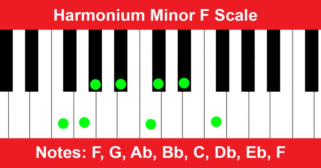Harmonium Minor F Scale